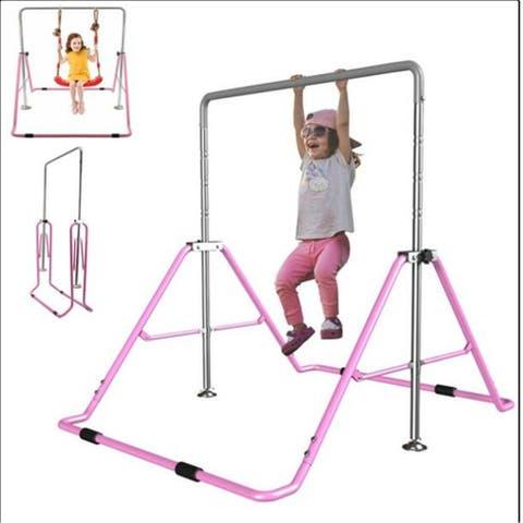 Horizontal Gymnastics Bar Kids Training Bars Expandable Home GYM Equipment Gymnastic Station Exercise FoldingRackExerciseFitness