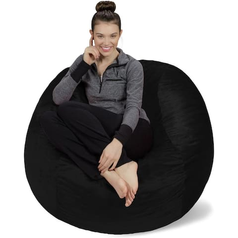 4-foot Bean Bag Chair Large Memory Foam Bean Bag