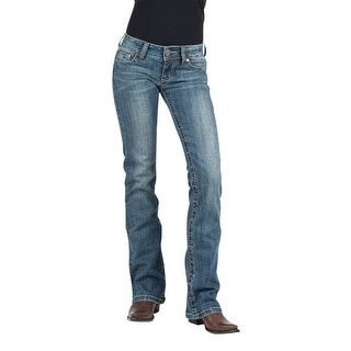 Stetson Western Denim Jean Womens 816 Fit Med Wash 11-054-0818-0721 BU