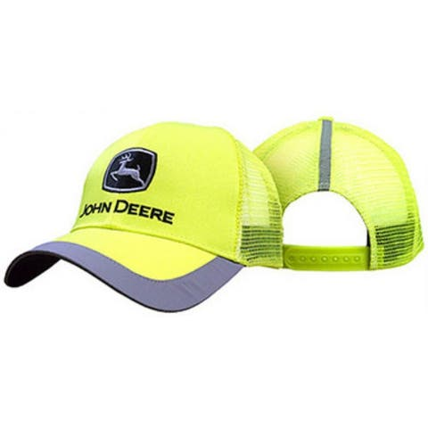 John Deere 13080243YW00 Mesh Back 6 Panel Cap, One Size, Neon Yellow