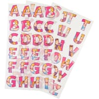 Disney Princess Iron-On Alphabet Transfer Sheets-Princess