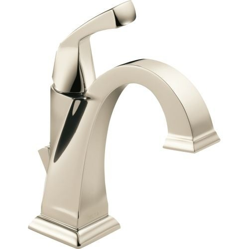 Delta 551 DST Dryden Single Hole Bathroom Faucet With Diamond Seal  Technology   Includes Pop Up Drain Assembly   Free Shipping Today    Overstock.com   ...