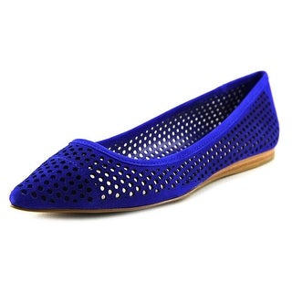 Vince Camuto Hilta Women Pointed Toe Suede Blue Flats