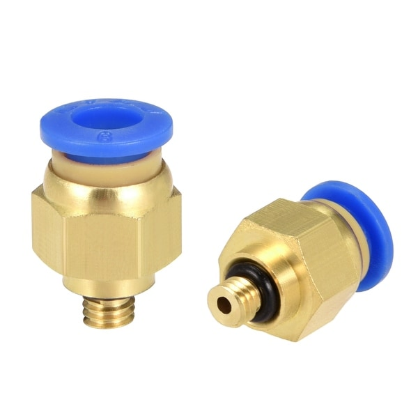 8 Pcs Pneumatic Straight Quick Fitting 6mm Thread M5 One Touch Hose Connector