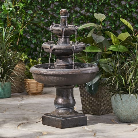 Hockingport Outdoor Tier Fountain Outdoor 3 by Christopher Knight Home