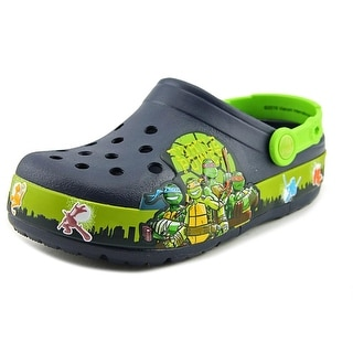 Crocs Crocslight TMNT II Youth Round Toe Synthetic Blue Clogs