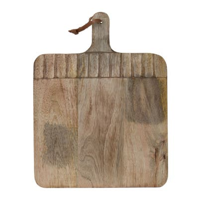Foreside Home & Garden Wide Rectangle Hand Carved Wood Serving Cutting Board - 15.25 x 11.75 x 0.75