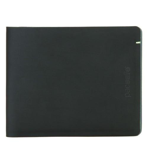 Pacsafe RFIDsafe TEC Bifold Wallet - Black/Lime RFID Blocking Slim Bi-fold Wallet