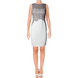 Lauren Ralph Lauren Womens Petites Cocktail Dress Lace Front Colorblock (2 options available)