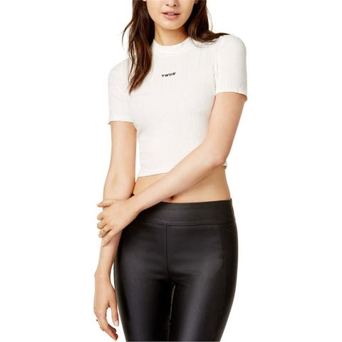 Twiin Womens Embroidered Basic T-Shirt