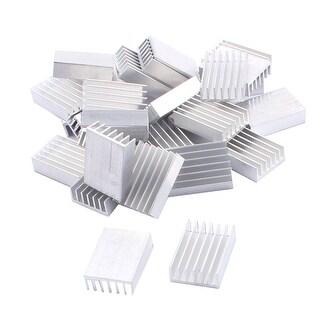 30pcs Aluminium 20x14x6mm Heat Sink Radiator Fin Heatsink Silver Tone