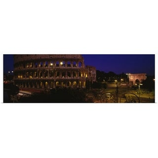 """""""Italy, Rome, Colosseum"""" Poster Print"""