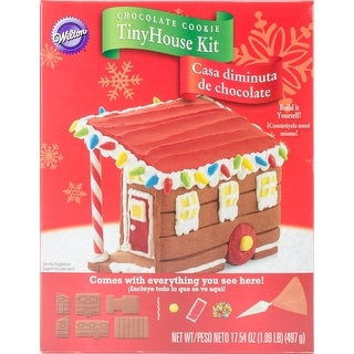 Unassembled Tiny Home Chocolate Cookie Kit-