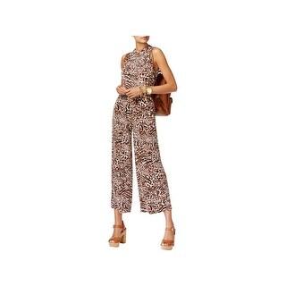 MICHAEL Michael Kors Womens Jumpsuit Animal Printed Sleeveless