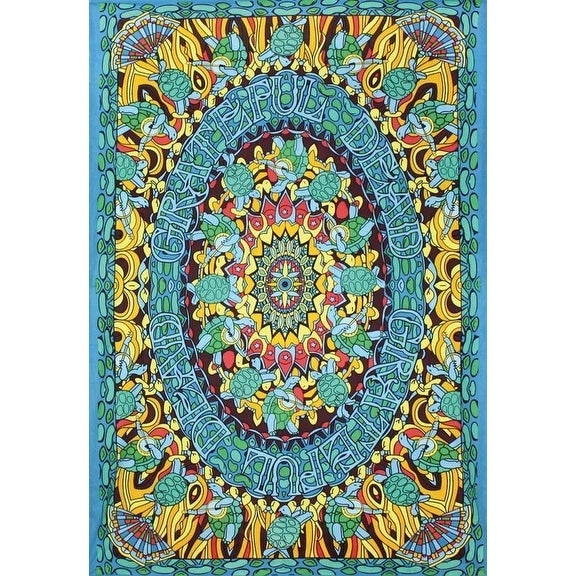 "Handmade 100% Cotton Grateful Dead ""Terrapin Dance"" Psychedelic Tapestry Dorm"