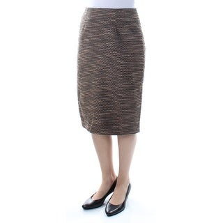 CATHERINE MALANDRINO $178 Womens New 1515 Brown Pencil Skirt 6 B+B