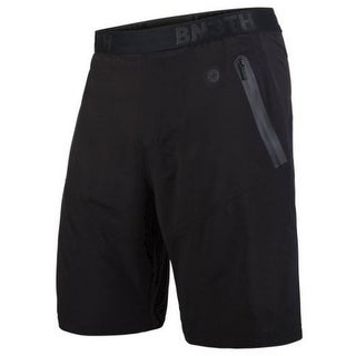 BN3TH Men's 3 in 1 Athletic Shorts Front and Back Zipper Pockets Black 2N1BB