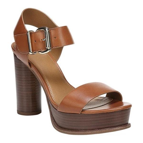 80185a79e82 Sarto by Franco Sarto Women  x27 s Katerina Ankle Strap Sandal Brown  Vachetta Leather