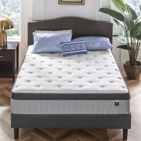 Priage by ZINUS 13 Inch Comfort Support Pocket Spring Hybrid Mattress