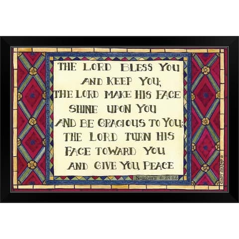 """""""The Lord Bless You"""" Black Framed Print"""