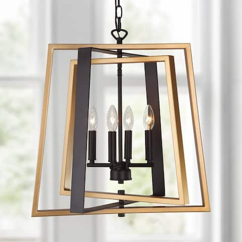 Mid-century Modern Gold 4-light Ceiling Pendant Gold Chandelier for Kitchen Dining/ Living Room