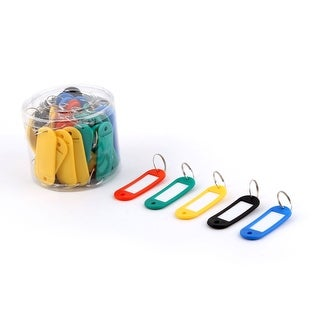 Office Travel Metal Ring Plastic Suitcase Luggage Tag Label Assorted Color 50pcs