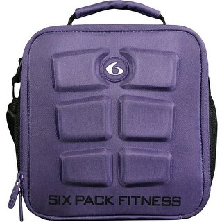 6 Pack Fitness The Cube Meal Management Bag - Deep Grape