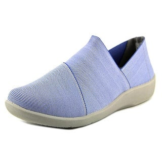 Clarks Sillian Firn Women Round Toe Canvas Blue Loafer