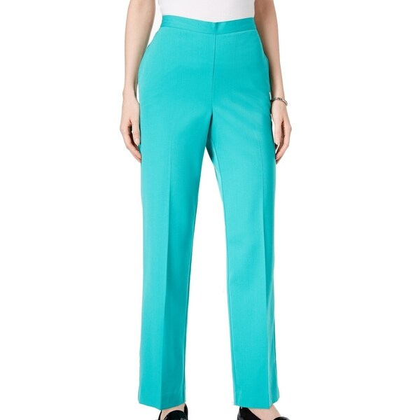 8871dec6e3638e Shop Alfred Dunner Green Jade Women s Size 12X28 Pull-On Dress Pants - On  Sale - Free Shipping On Orders Over  45 - Overstock - 27369278