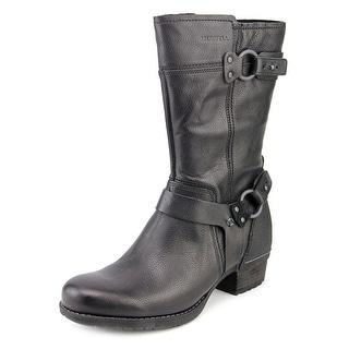 Merrell Shiloh Peak Women Round Toe Leather Black Mid Calf Boot