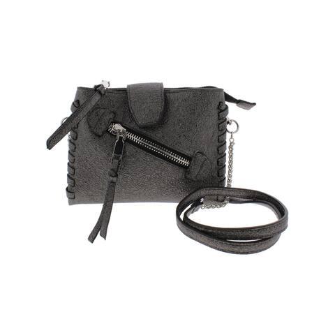 BCBGeneration Womens Crossbody Handbag Faux Leather Organizational - Small