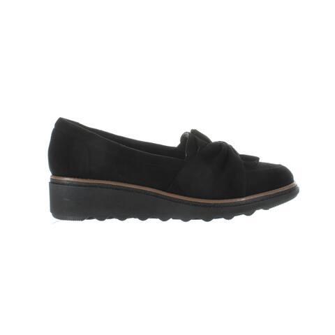 Clarks Womens Sharon Dasher Black Heels Size 8