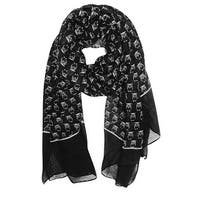 Women's Lightweight Owl Printed Soft Large Wrap Scarves