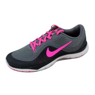 Nike Women's Flex Trainer 6 Cool Grey/Pink Blast-Dark Grey-Anthracite 831217-003