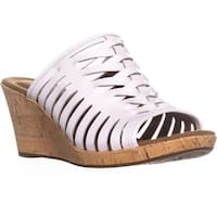 Rockport Briah Perfed Slingback Wedge Sandals, White Leather - 9 us / 40 eu
