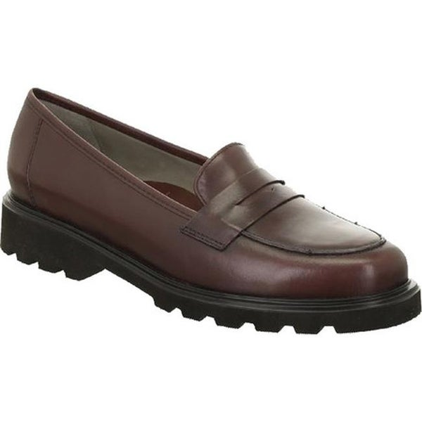 af4002ecead Shop ara Women s Helga 48627 Penny Loafer Oxblood Calf - Free Shipping  Today - Overstock - 14549642