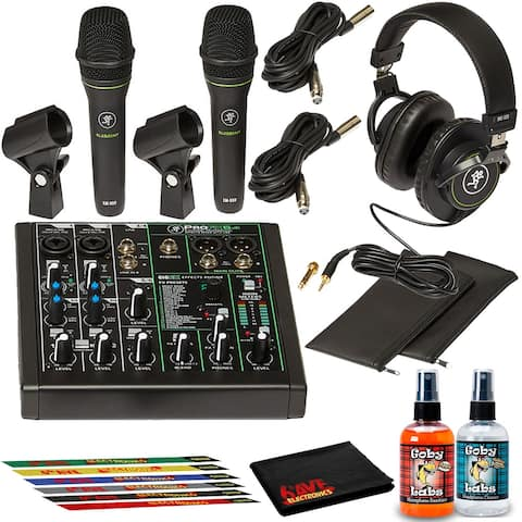 Mackie Performer Bundle with Effects Mixer, Two Mics, Headphones, and