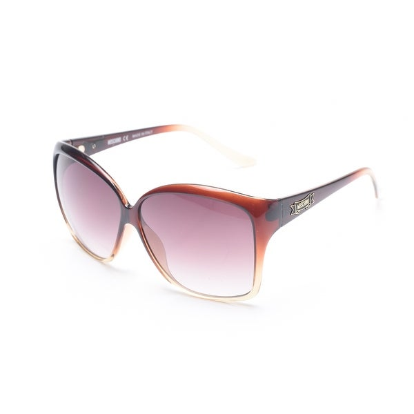 5993b6912e Shop Moschino Women s Oversized Frame Sunglasses Tortoise - Brown - Small -  Free Shipping Today - Overstock.com - 12299389