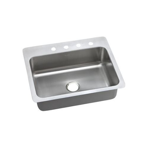 "Elkay DSESR12722 Dayton 27"" Single Basin Drop In Stainless Steel Kitchen Sink"