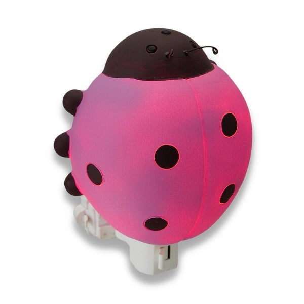 Children`s Pink Ladybug Night Light Nite Lite