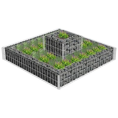 vidaXL 2 Tiered Gabion Planter