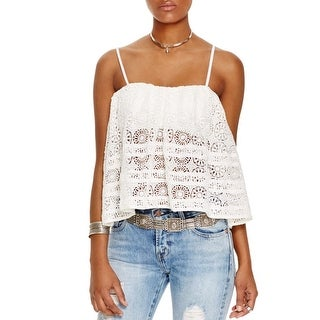 Free People Womens Sydney Tube Top Cotton Lace