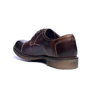 BedStu Men's Repeal Oxford, Teak Rustic, 9 M US
