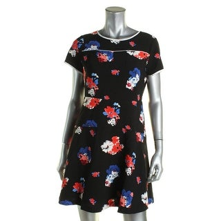 Vince Camuto Womens Petites Casual Dress A-Line Floral Print