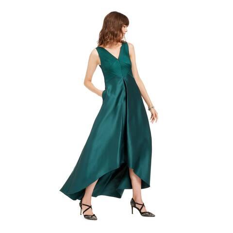 ADRIANNA PAPELL Green Sleeveless Midi Dress 6