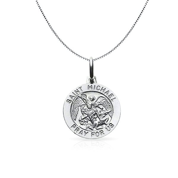 Bling Jewelry St Christopher Protect Us Medallion Religious Pendant Sterling Silver Necklace 18 Inches ufQvqPyGH
