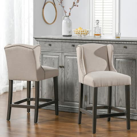 Sam Wingback 27-inch Counter-Height Armless Barstool by Jennifer Taylor Home
