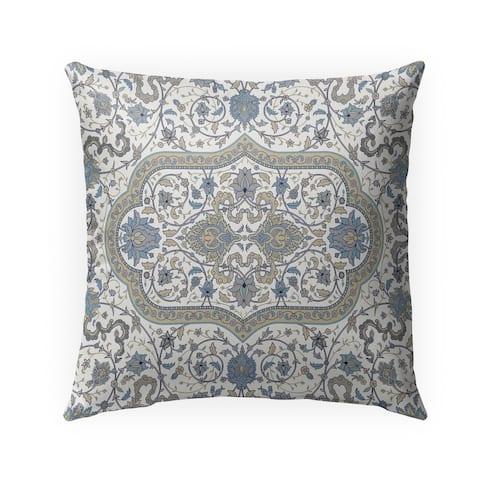 EMPIRE TAN & BLUE Indoor-Outdoor Pillow By Marina Gutierrez