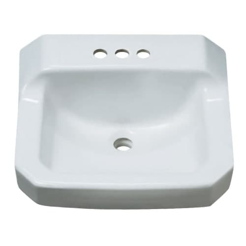 "ProFlo PF5414 19-7/8"" Wall Mounted Rectangular Bathroom Sink - 3 Holes Drilled"