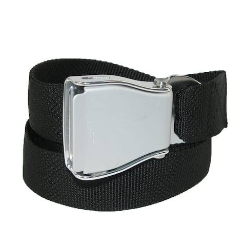 Buckle Down Airline Seatbelt Buckle Adjustable Belt - one size